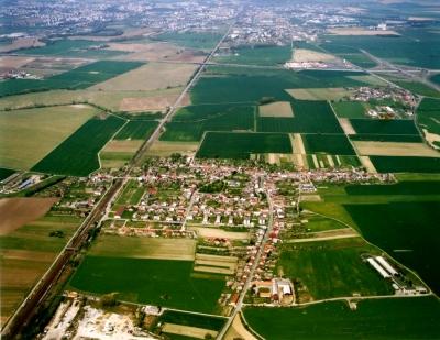 Letecká fotografie obce Grygov