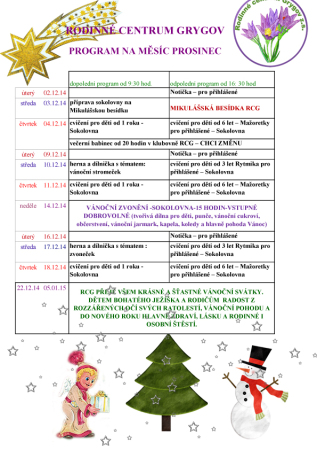 program prosinec 14